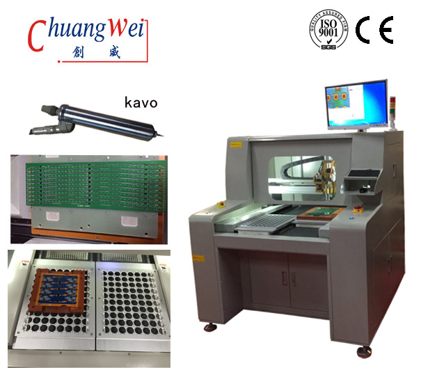 Precision Depaneling PCB Router Equipment,KAVO Spindle Pcb Depaneling Router With Computar EX2C LENS 220V,CW-F04​