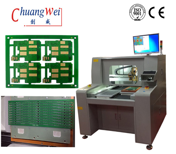 Low Maintenance PCB Automatic Router Machine High Resolution CCD,CW-F04