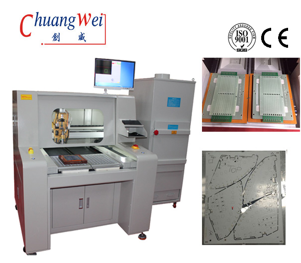 PCB Router PCB Depaneling Equipment With Upper Vacuum Cleaner,CW-F04