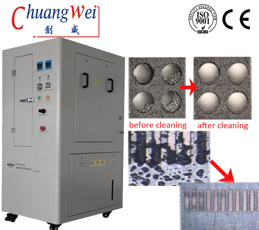 CW-8000 Pneumatic Stencil Cleaning Machine